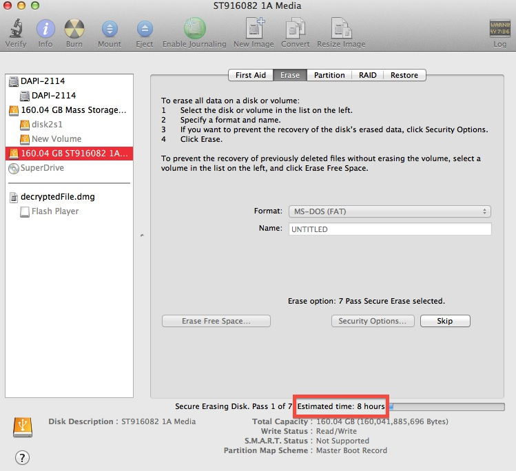 How to Securely Erase Removable Media Using Mac OS X - The Security
